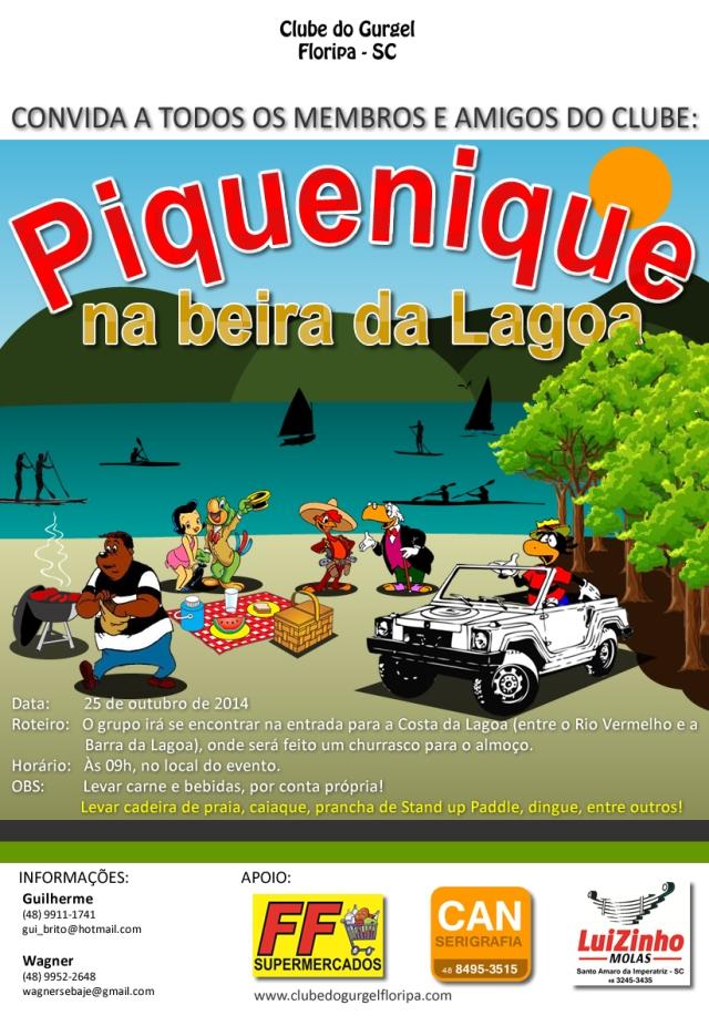 52 - Cartaz Piquenique na Beira da Lagoa